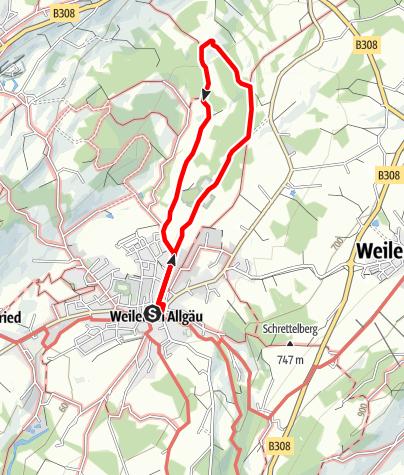 Karte / Weiler-Simmerberg R5 Erratischer Block