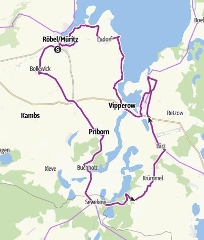 Karte / Von Röbel nach Rechlin