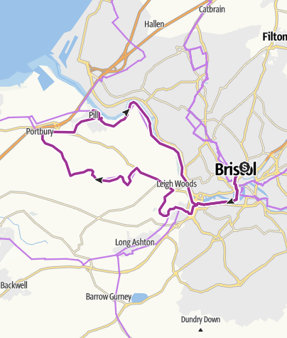 Map / Bristol to Pills loop