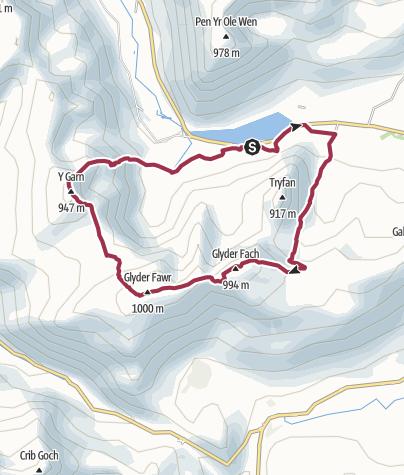 Map / Snowdonia - Glyder Fawr Northern Loop