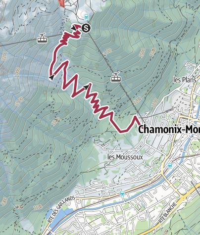 Map / La Bergerie de Plan Praz to Chamonix