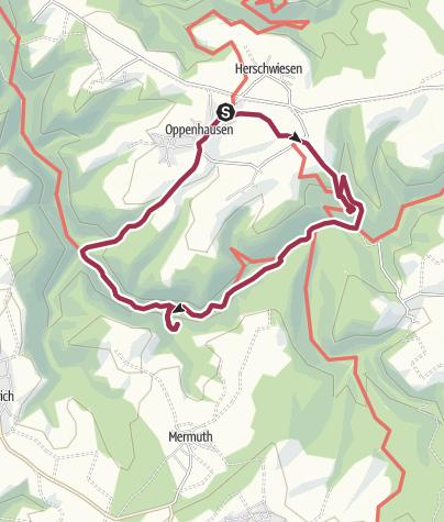 Karte / Die wilde Ehrbachklamm nahe Boppard