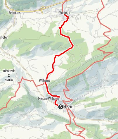 Karte / Carl Hirnbeinweg (Weitnau-Missen oder umgekehrt)