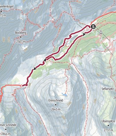 Karte / Von Pfelders zur Lazinser Alm