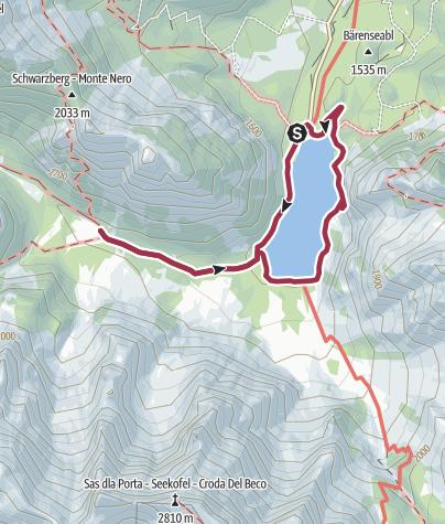 Karte / Um den Pragser Wildsee