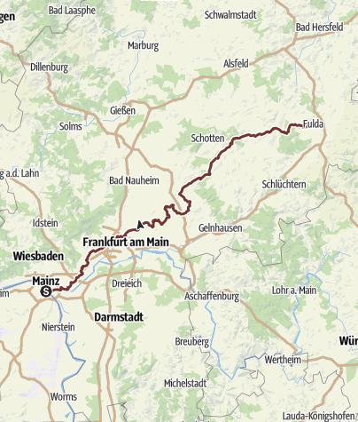 Karte / Auf der Bonifatius-Route von Mainz nach Fulda