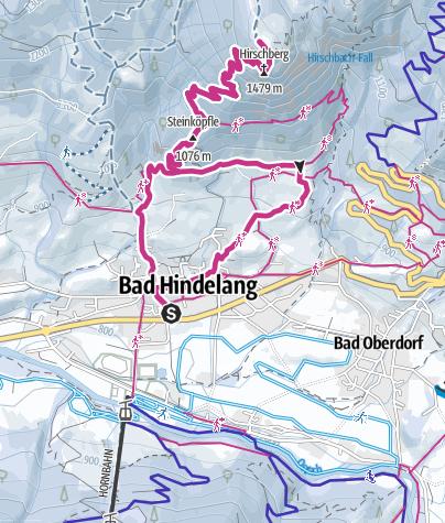 Karte / Von Bad Hindelang auf den Hirschberg