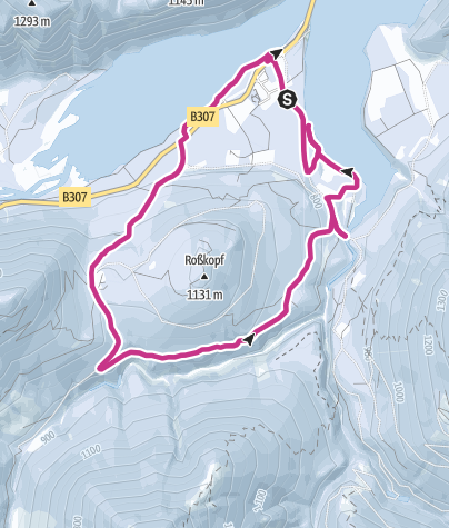 Karte / Winterwandern: Sylvensteinstausee