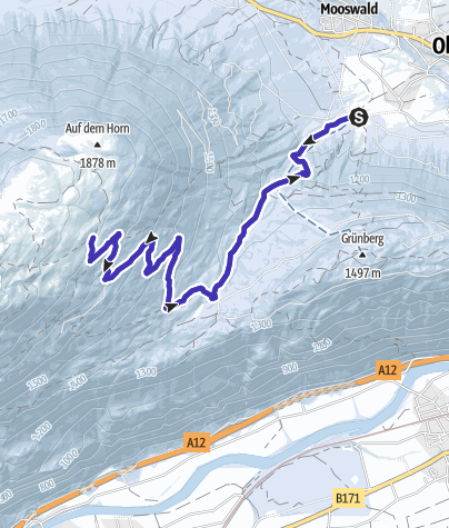 Karte / Rodeln an der Simmeringalm bei Obsteig