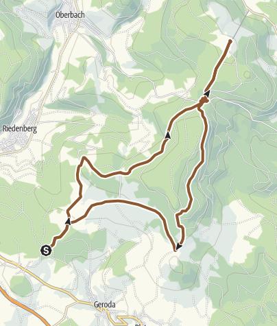 Karte / Drei-Hütten-Tour bei Bad Brückenau