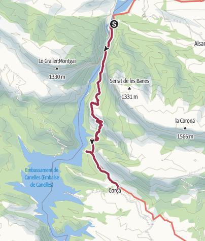 Map / MONTREBEI-LA PERTUSA-CORÇÀ
