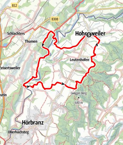 Karte / Brückenschlag Leiblach: Wandern am Grenzfluss - Westallgäuer Wasserweg 30