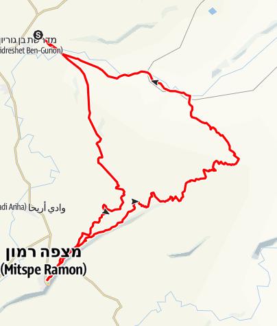 Mapa / משדה בוקר למצפה ללא המכתש