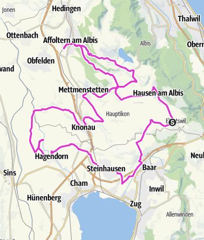 מפה / Ebertswil-Affoltern-Aeugst-Mettmenstetten-Maschwanden-Steinhausen-Baar-Kappel-Ebertswil