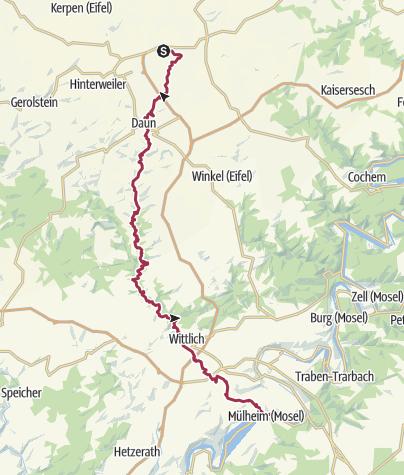 Karte / Der Lieserpfad - von der Quelle bis zur Mündung