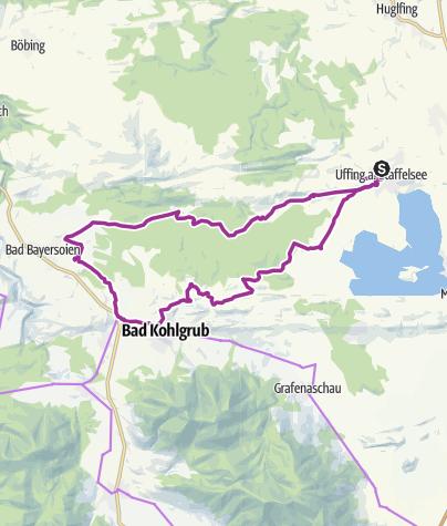 Mappa / Radtour Uffing