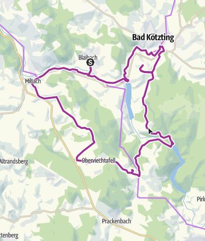 Karte / Aus- und Einblicke bei Blaibach