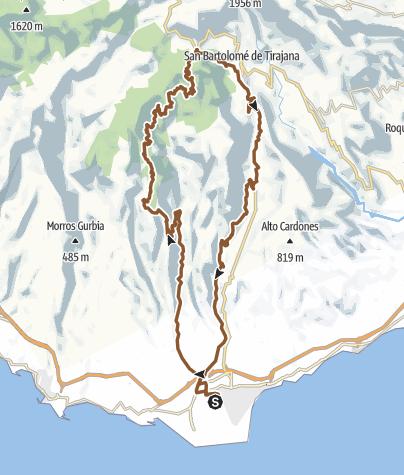 Map / GC 13 - Ayagaures - Cruz Grande