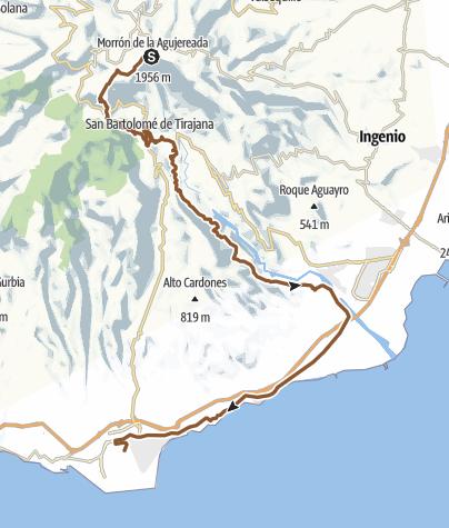 Map / GC 14 - Pico de la Nieves - S Bartolome - St.Lucia