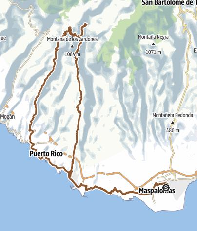 Map / GC 14 - Arguineguin - Soria - Playa del Cura