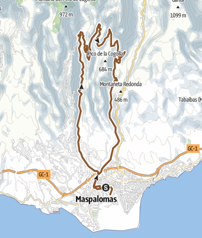 Map / GC 13 - Ayagaures - normal start route