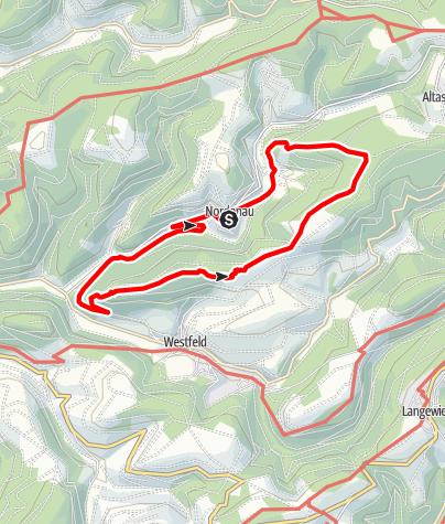 Karte / Rundweg um Nordenau (No2)