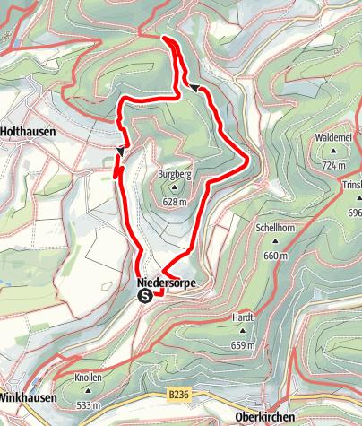 Karte / Rundweg um Niedersorpe (N2)