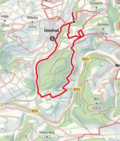 Karte / Goldspur Eimelrod