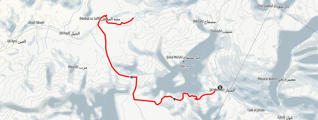 Kartta / 2014 05 25 From shams plateau to wadi DAMM