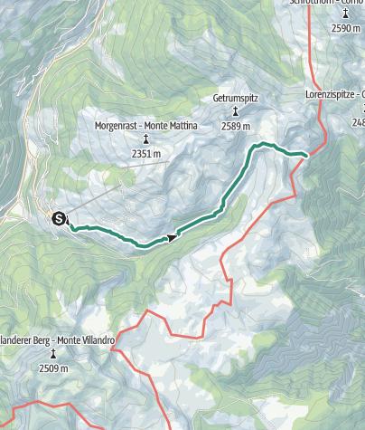 Karte / Lazfonser Kreuz