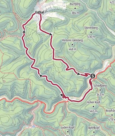 Karte / Burgenreiches Elmsteiner Tal