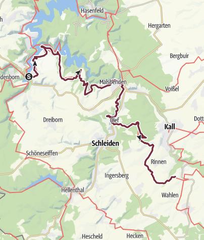 Karte / Eifelsteig, Etappe 4 und 5