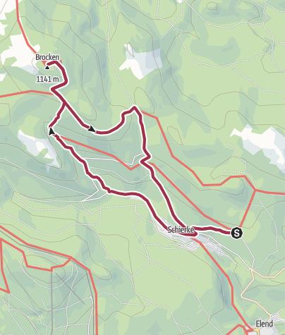 Karte / Über den Eckerlochstieg auf den Brocken