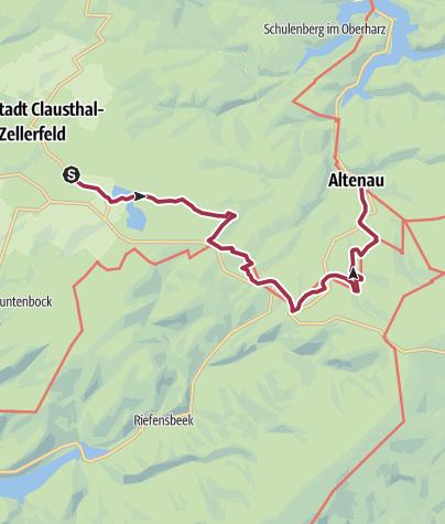 Karte / Oberharzer-Wasserwirtschaft-Wanderung