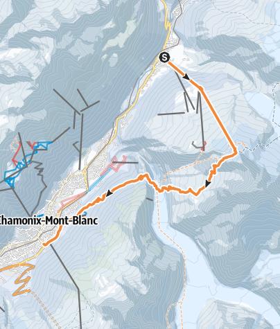 Karte / Chamonix - Couloir Rectiligne