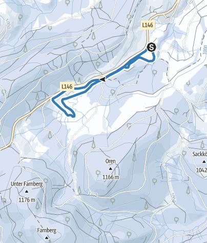 Karte / Winter - Bernau Schwarzwald: Hexenbühl-Loipe