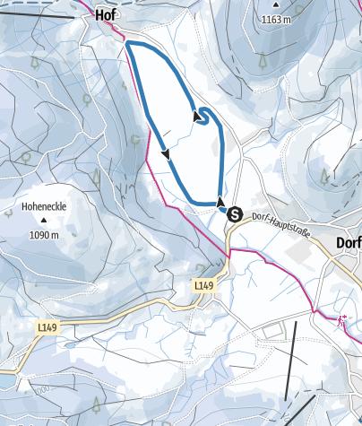 Karte / Winter - Bernau Schwarzwald: Hof-Loipe
