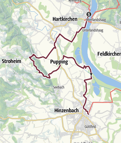 """Map / Donausteig Stage 2_G01 Aschach - Eferding: """"To meander through the Eferdinger Basin"""""""