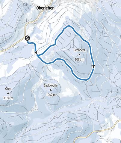 Karte / Winter - Bernau Schwarzwald: Rechberg-Loipe
