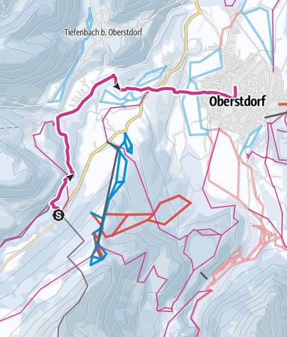 Karte / Durch die Breitachklamm nach Oberstdorf