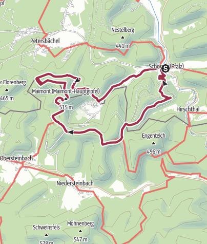 Karte / Auf der Friedenskreuz-Tour