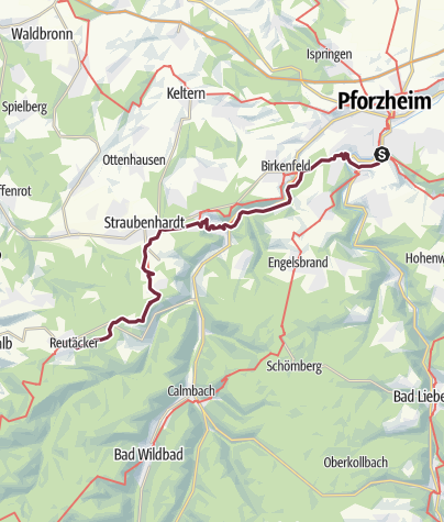 Karte / Westweg-Etappe 01: Pforzheim - Dobel