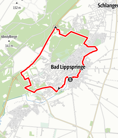 Karte / Quellen-Route Bad Lippspringe