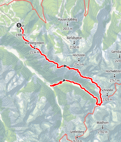 Karte / Planai-Höhenweg mit Übernachtung Preintalerhütte