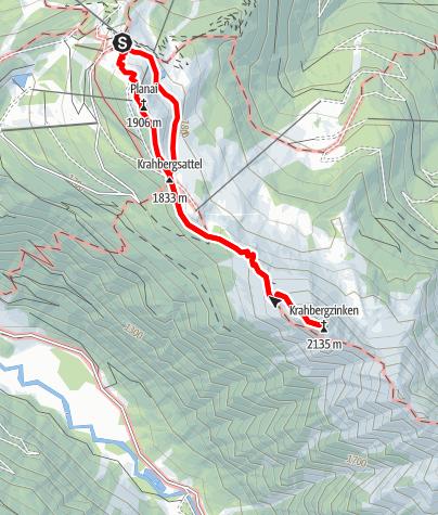 Karte / Auf den Krahbergzinken