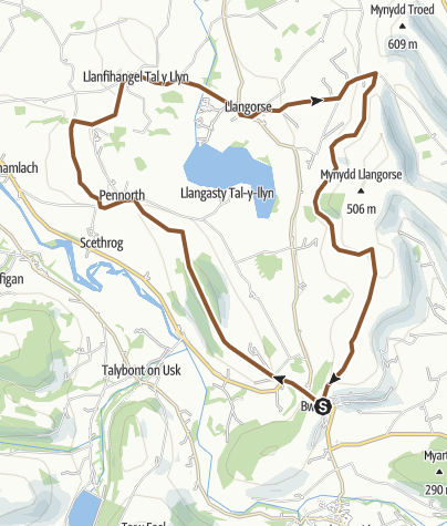 Map / Bwlch Llangors Long loop