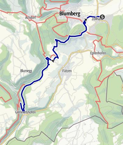 Karte / Eisenbahn Wanderweg