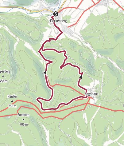 Karte / Rundweg um Fleckenberg (F1)