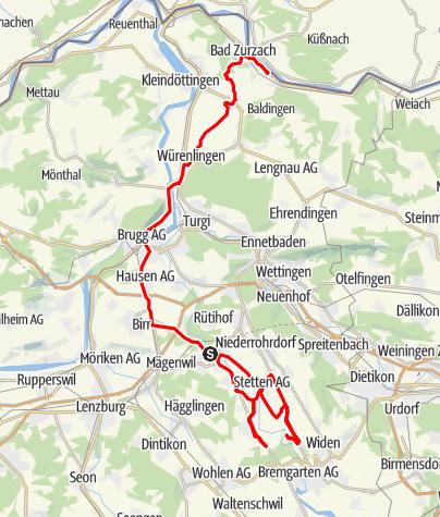 Map / Track 02.07.11 21:19 Ballonnachtnachfahrt