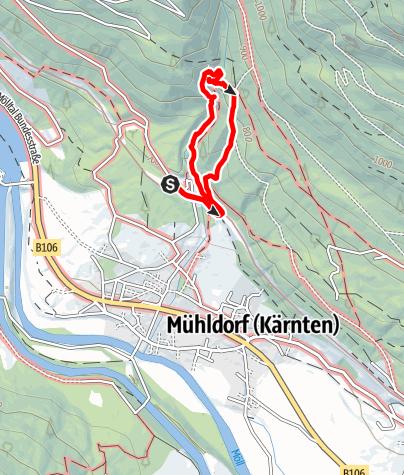 Karte / Barbarossaschlucht bei Mühldorf/Mölltal